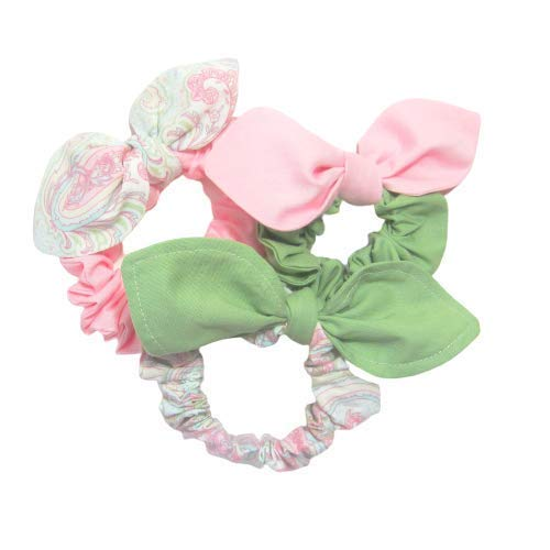 Scrunchies Set Ranking TOP15 of 3 Pink Spring Green Light Dallas Mall Pi Paisley