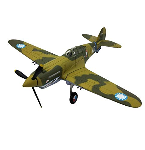 JHSHENGSHI 1/72 Scale Fighter Plastic Model, Military WWII P40 Catalina Fighter Adult Collectibles And Gifts, 6.2Inch X 5.2Inch