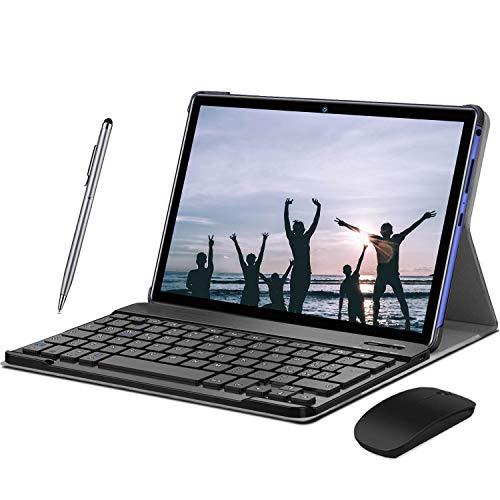 4G Tablet, 2 in1 Tablet mit Tastatur, 8000 mAh Quad-Core, Dual SIM,WiFi,Bluetooth, GPS, OTG, Typ C