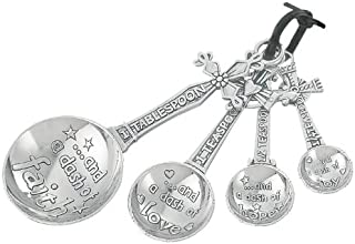 Ganz EK5343 Cross Measuring Spoons Set, Multisizes, Silver