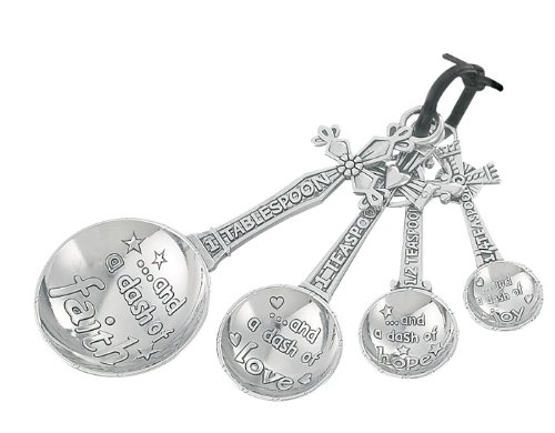 Ganz EK5343 Measuring Spoons Set, Multisizes, Silver Cross