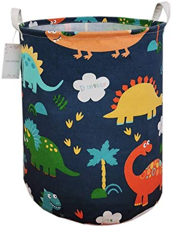 LEELI laundry Hamper with Handles Collapsible Canvas Basket for Storage Bin Kids Room Home Organizer product image