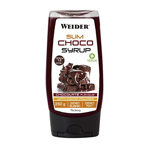 Weider Victory Syrups Slim Choco. Sirope de Chocolate. Cero Grasas y Cero Azúcares. Apto para veganos. 350 gr