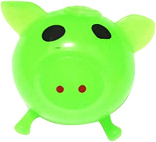 Missoul Cute Anti Stress Splat Water Pig Ball Vent Toy Venting Sticky, 1Pcs (Green)