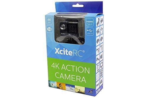 XciteRC 80000125–WiFi 4K UHD Action Cam 24MP, Veicolo, Nero