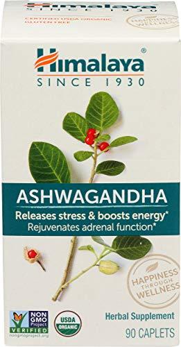 Himalaya, Ashwagandha Herbal Supplement Caplets Only, 90 Count