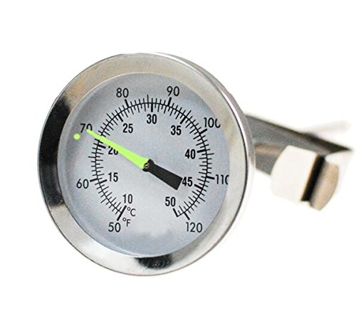 KEHANG Grow in The Dark Compost Thermometer-Stainless Steel Bimetal Thermometer for Backyard Composting - 2 Inch Diameter Fahrenheit/Celsius Dial, 8 Inch Temperature Probe