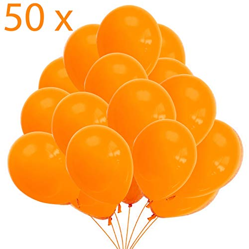 Jonami 50 Luftballons Orange Ballons Premiumqualität 36 cm Partyballon Deko 3,2g. Dekoration für Orange Party