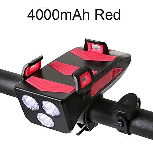 Ensemble d'éclairage de vélo Combinaison Rechargeable USB puissante de phares de vélo et de Feux arrière à LED-800 lumens Super Lumineux 4 en 1
