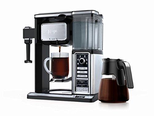 Système de Carafe en Verre pour Bar à Café Ninja, Noir et Acier Inoxydable, Modèle CF091C - 0