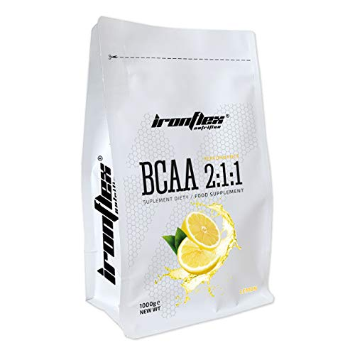 Iron Flex BCAA 2-1-1-1 Pack - Branched Chain Amino Acids in Powder - Muscle Regeneration - Anticatabolic (Lemon, 1000g)