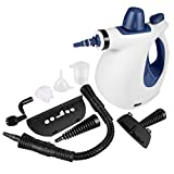 Handheld Pressurized Steam Cleaner with 9-Piece Accessory Set - Multi-Purpose and Multi-Surface All Natural,...