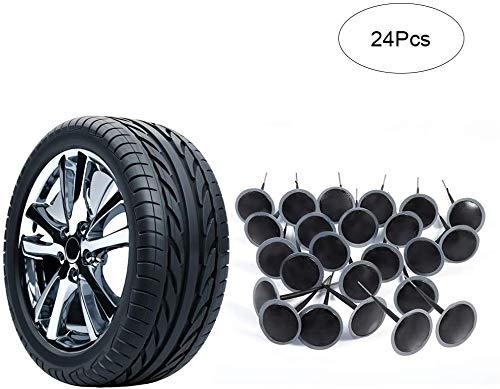 Reifenreparatur Pilz Gummi Auto 6mm 24 stücke Reparatur Stecker Integralem Reifenpilz Stecker Puncture Repair Wired Pilzförmige Nadelstecker für Auto, Motorrad, LKW-Bus und landwirtschaftliche Reifen