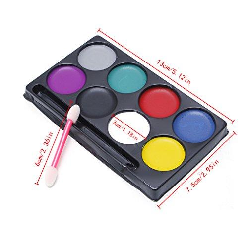 ECMQS Hallowmas Caliente 8Colores, Kit de Pintura para el Cuerpo, Maquillaje Facial...