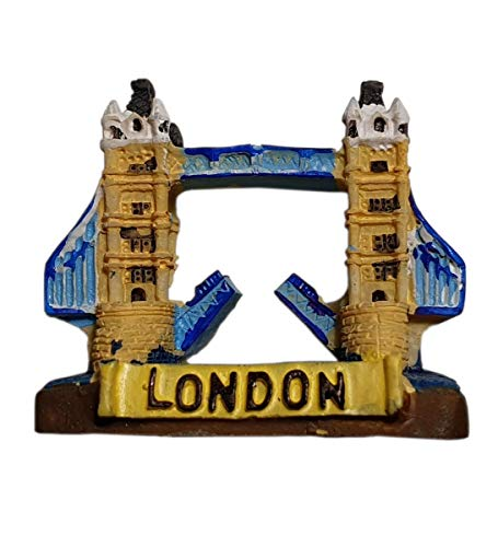 thomas benacci Aimant de réfrigérateur 3D Tower Bridge – Souvenir britannique pour la maison, la cuisine, le bureau de Londres, Angleterre