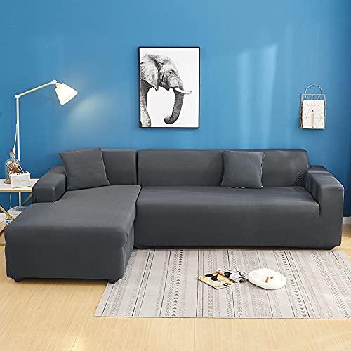 MKQB Funda de sofá Moderna y Sencilla Antideslizante con Envoltura hermética, Funda de sofá elástica combinada de Esquina en Forma de L para Sala de Estar NO.12 S (90-140cm