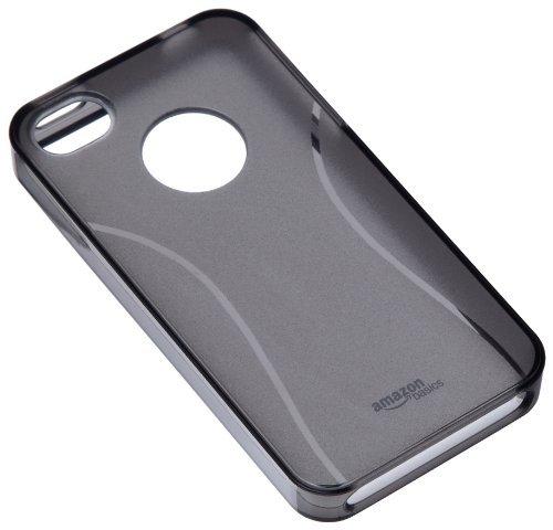 AT&TおよびVerizon iPhone 4およびiPhone用スクリーンプロテクター付きAmazonBasicsケースTPUケース4S(* Smoke)