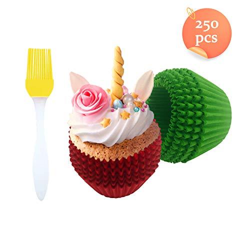 Weekend&Lifecan Muffin Förmchen Papier, 250 Stück, Muffin Förmchen Papier, cupcake formen,Papierbackförmchen, Mini-Muffinförmchen, muffin förmchen papier