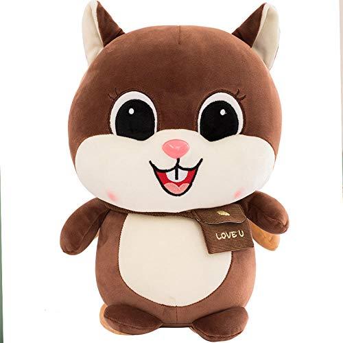 Pluche Leuke Beanie Squirrel Knuffel Ragdoll-Brown_35cm