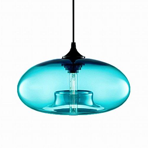 Loft Vintage Modern Helder Wijnrood Amber Grijs Blauw Kleur Kleurrijk Glazen bol Hanglampen Armaturen Keuken Restaurant Eetkamer Woonkamer Café Winkel Bar Slaapkamer (3#Lichtblauw)