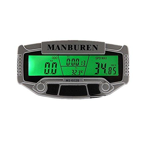Tachimetro importati Sensori Computer Xagoo biciclette LCD retroilluminato bicicletta antipioggia contachilometri bici Computer Accessories