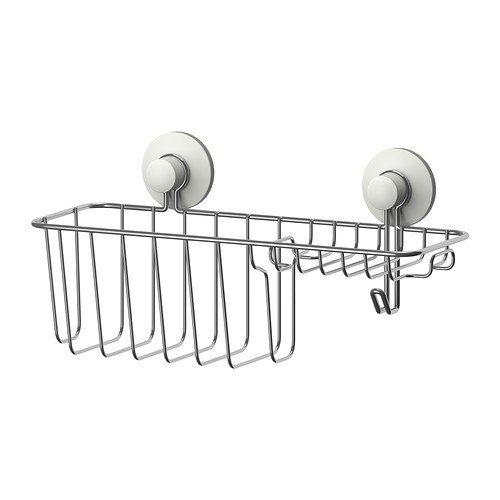 IKEA IMMELN Duschkorb mit Haken verzinkt