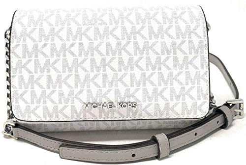 Michael Kors Medium Multifunction Phone Crossbody Bag Clutch Bright white