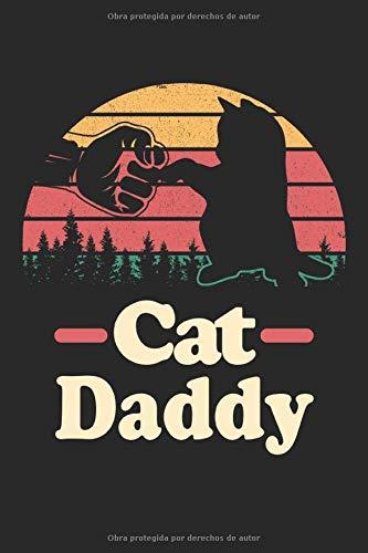 Cat Daddy: Libreta de regalos de diseño vintage de gatos papá forrada (formato A5, 15,24 x 22,86 cm, 120 páginas)