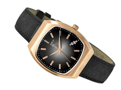Replay RW8603NH - Reloj analógico de caballero de cuarzo con correa de piel negra