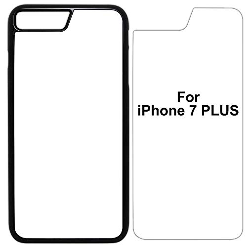 5X Sublimation Blank Cases Compatible with Apple iPhone 7 Plus-Plastic-Black-Blank Dye Cases and Inserts for Dye Sublimation/Phone Cover/Blank Printable Cases, Made by INNOSUB USA