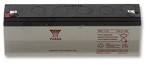 YUASA Battery, Lead-Acid 12V 2.1AH