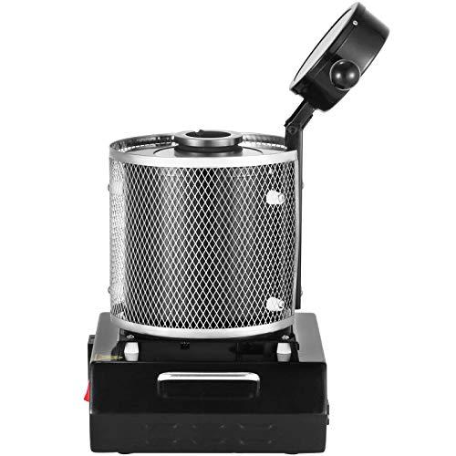 Autovictoria 3KG Horno de fusión de oro 1150 ℃ Máquina de horno de fusión digital Máquina de calefacción 2100W Casting Refinación Metales preciosos Oro Plata Aluminio Estaño (3KG)