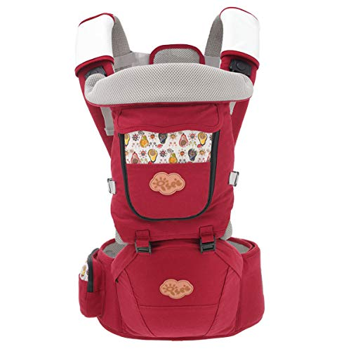 ISEE Babytrage, Baby Tragetuch Neugeborene, Babytrage Neugeborene, 10 in 1 Ergonomische Kindertrage schont Rücken und Hüfte, Bauchtrage schadstofffrei Baby Trage