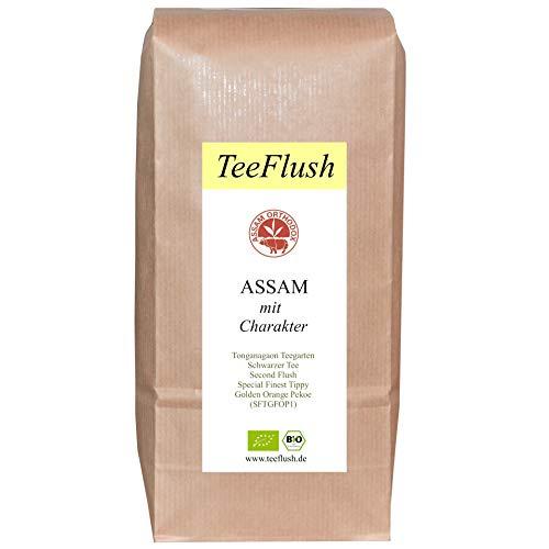 Assam Second Flush SFTGFOP1, 2020, Schwarzer Tee, 500g, Bio, lose, Geschmack: würzig, malzig mit Honigton, Tonganagaon Teegarten