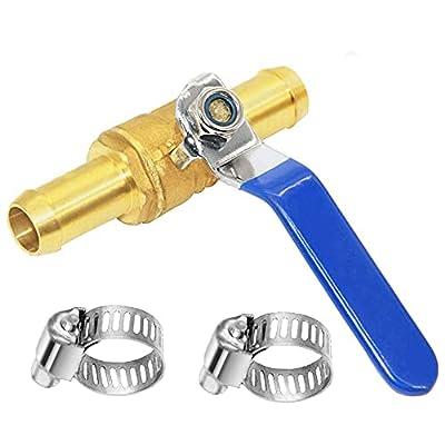 "Joywayus 5/8"" Barb Valve Shutoff Ball Valve Brass Fitting Air Gas Fuel Line Pipe Fittings by Joywayus"