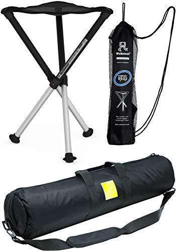 Walkstool Dreibeinhocker zum Mitnehmen Comfort mit gepolsterter Tragetasche (Walkstool 75 mit Tasche)