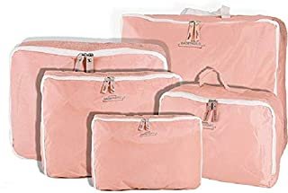G4U 5-Piece Travel Bag Organizer Set - Pink