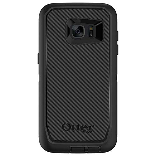 Rugged Protection OtterBox Defender Series Case for Samsung Galaxy S7 Edge (ONLY) - Bulk Packaging - Black