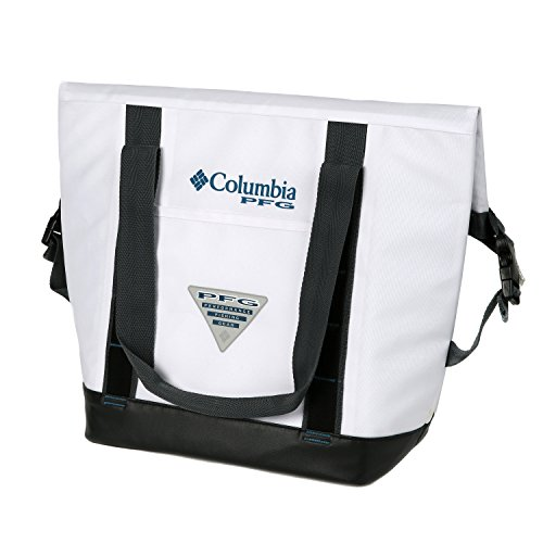 Columbia PFG 20 Can Permit Convertible Roll-Top Thermal Tote, White