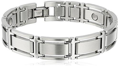 Sabona Executive Symmetry Silver Magnetic Bracelet - Large