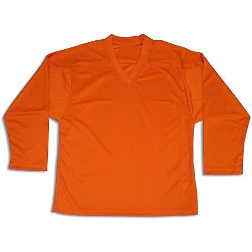 Kamazu FlexxIce Classic Youth/Junior Practice Hockey Jersey, 100% Polyester Mesh (Orange, Junior S/M)