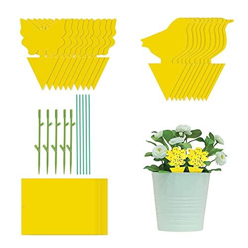 30 trampas para moscas con adhesivo amarillo, trampas para insectos y plantas de interior