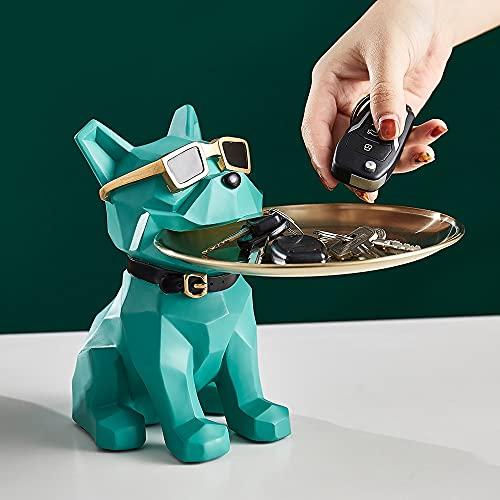 MUY Nordic Home Decor Woonkamer Office Desktop Kreative Geometrische Hund Vorratstank Metalle Load Res Tier Statue Box Andenken Box Valentinstag für Frauen