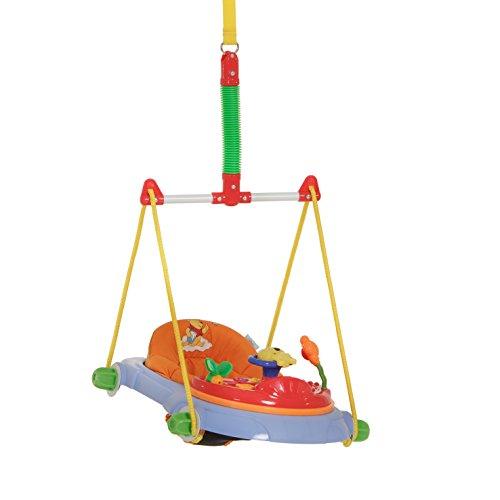 Hauck Türhopser Jump Deluxe Disney - ab 6 Monaten, höhenverstellbar, mit Spielstation, bunt (Pooh)