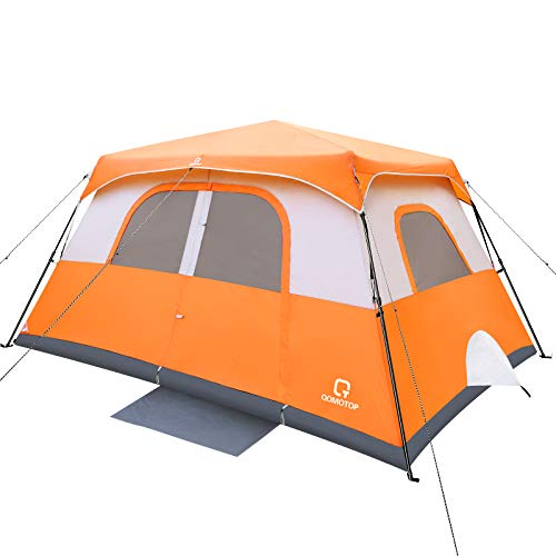 OT QOMOTOP Tents, 8 Person Easy Instant Camping Tent, 60s Easy Setup, Waterproof Windproof Family Spacious Tent with Removable Rain Fly for Outdoor Picnic, Travelling, Fishing in All Weather