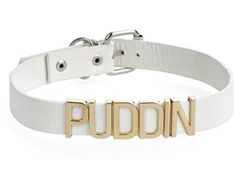 KeySmart Quinn Halsband mit Puddin Schriftzug