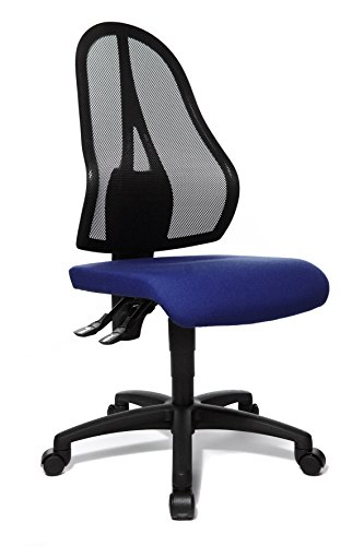 Topstar Open Point P Bürostuhl, Schreibtischstuhl, Stoff, 58 x 48 x 111 cm, blau
