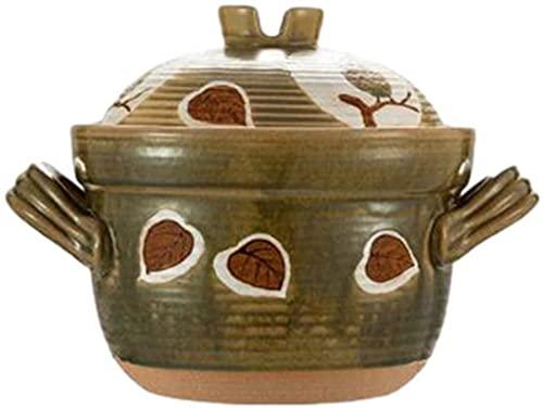 Terracotta gryta Vintage gryta med dubbla lock med öppen eld och hög temperaturbeständig matlagningskokkärl för hemmabruk-3L