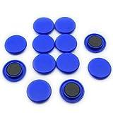 Magnet Expert - Magneti per bacheca/frigorifero, misura grande, 40 x 8 mm (confezione da 12), colore: Blu