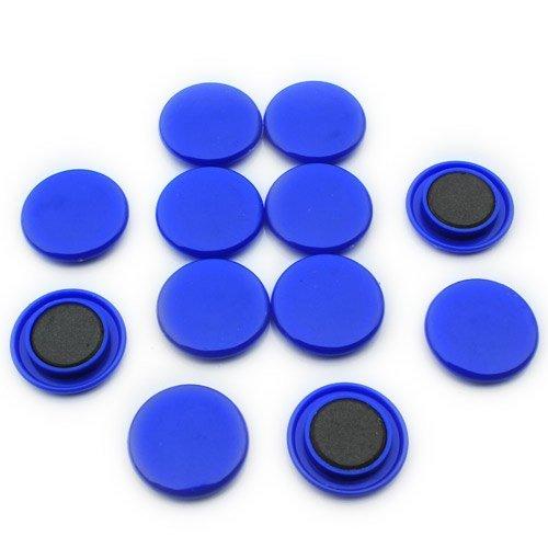 First4magnets F4M40-BLUE-1 Große blaue Aushang/Planung-Magnet (40mm Durchmesser x 8mm hoch) (1 Packung mit 12), silver, 25 x 10 x 3 cm